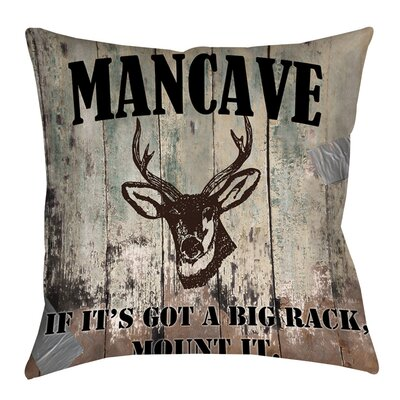 Mancave II Indoor/Outdoor Throw Pillow Size: 18