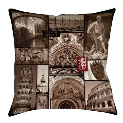Italy Indoor/Outdoor Throw Pillow Size: 20 H x 20 W x 5 D