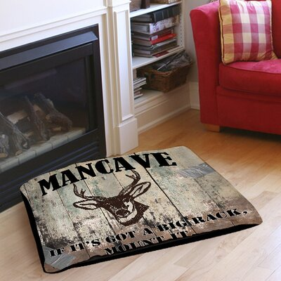 Mancave II Indoor/Outdoor Pet Bed Size: 50 L x 40 W