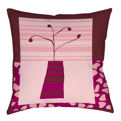 Minimalist Flowers 4 Indoor/Outdoor Throw Pillow Size: 18 H x 18 W x 5 D
