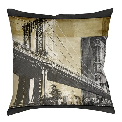 Metropolitan Collage 2 Indoor/Outdoor Throw Pillow Size: 16 H x 16 W x 4 D