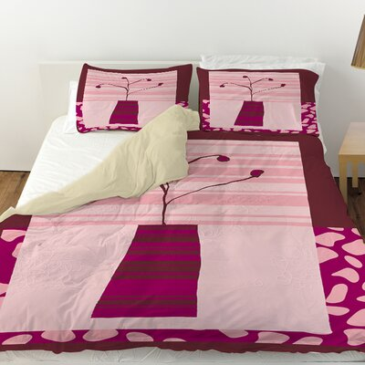 Minimalist Flowers 4 Duvet Cover Size: Queen