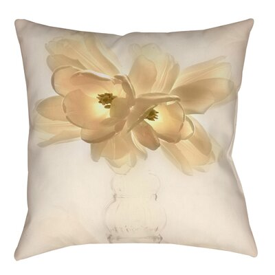 Lovely Tulip Indoor/Outdoor Throw Pillow Size: 18 H x 18 W x 5 D