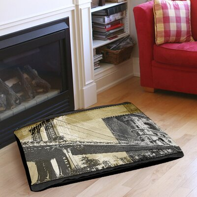 Metropolitan Collage 2 Indoor/Outdoor Pet Bed Size: 50 L x 40 W