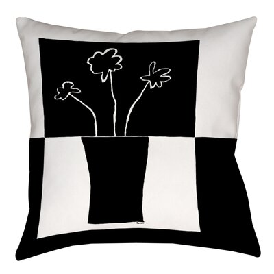 Minimalist Flower in Vase 2 Printed Throw Pillow Size: 14 H x 14 W x 3 D