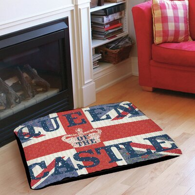 My Queen Castle Square Indoor/Outdoor Pet Bed Size: 28 L x 18 W