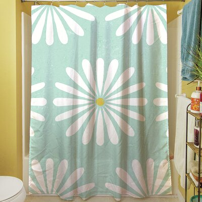 Jar of Sunshine Vintage Daisy Shower Curtain