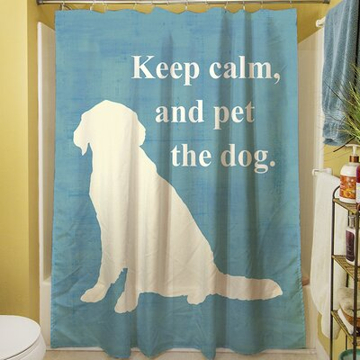 Keep Calm and Pet the Dog Shower Curtain