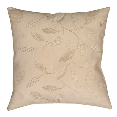 Wasinger Printed Throw Pillow Size: 26 H x 26 W x 7 D, Color: Taupe