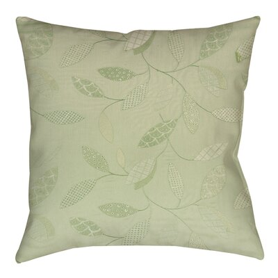 Leaves Narrow Printed Throw Pillow Size: 18 H x 18 W x 5 D, Color: Mint