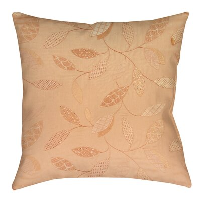 Wasinger Printed Throw Pillow Size: 14 H x 14 W x 3 D, Color: Salmon