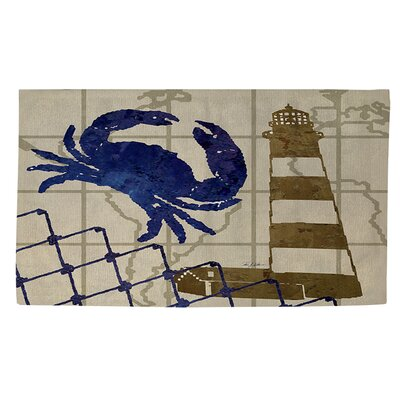 Lighthouse Beige Area Rug Rug size: 4 x 6