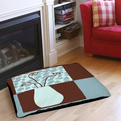 Minimalist Flowers 3 Indoor/Outdoor Pet Bed Size: 40 L X 30 W