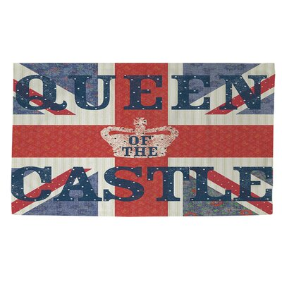 My Queen Castle Square Red/Blue Area Rug Rug size: 2 x 3