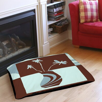 Minimalist Flowers 4 Indoor/Outdoor Pet Bed Size: 28 L x 18 W