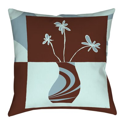 Minimalist Flowers 4 Indoor/Outdoor Throw Pillow Size: 20 H x 20 W x 5 D