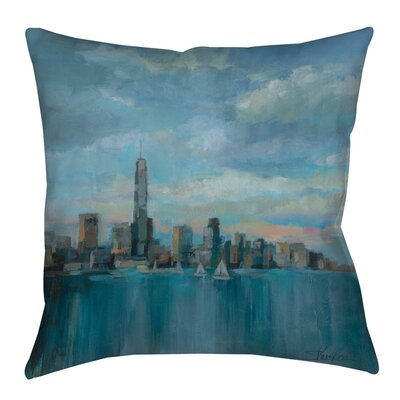 Manhattan Tower of Hope Indoor/Outdoor Throw Pillow Size: 20 H x 20 W x 5 D