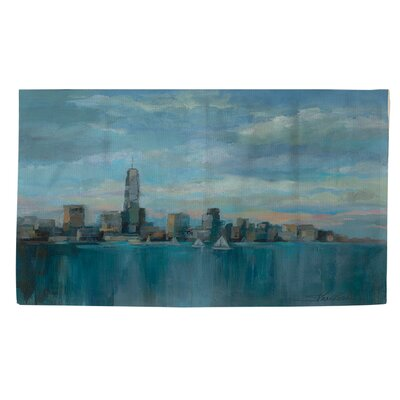 Manhattan Tower of Hope Blue Area Rug Rug size: 2 x 3