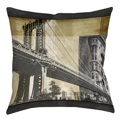 Metropolitan Collage 2 Printed Throw Pillow Size: 14 H x 14 W x 3 D
