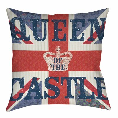 My Queen Castle Square Indoor/Outdoor Throw Pillow Size: 16 H x 16 W x 4 D