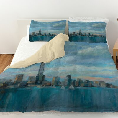 Manhattan Tower of Hope Duvet Cover Size: Twin