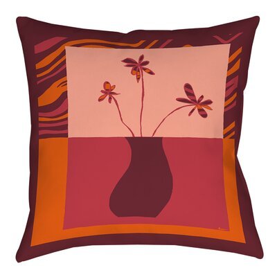 Minimalist Flowers 3 Printed Throw Pillow Size: 14 H x 14 W x 3 D