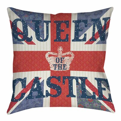 My Queen Castle Square Printed Throw Pillow Size: 16 H x 16 W x 4 D