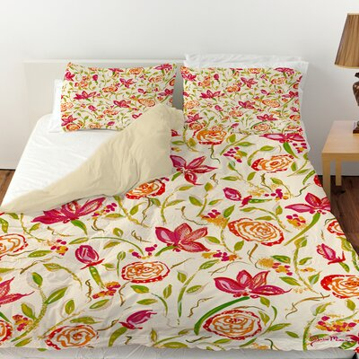 Julias Fancy Duvet Cover Size: King