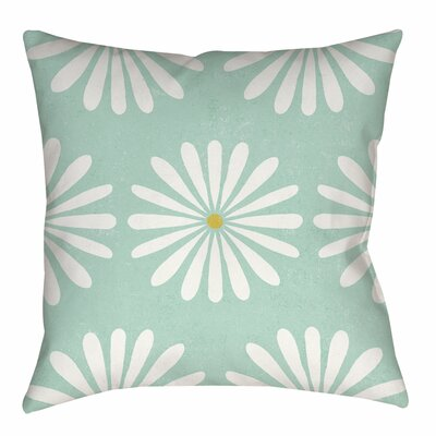 Jar of Sunshine Vintage Daisy Indoor/Outdoor Throw Pillow Size: 18 H x 18 W x 5 D