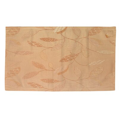 Leaves Narrow Salmon Area Rug Rug size: 4 x 6
