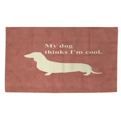 My Dog Thinks Im Cool Orange Area Rug Rug size: 2 x 3