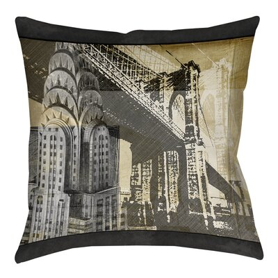 Metropolitan Collage 1 Printed Throw Pillow Size: 26 H x 26 W x 7 D