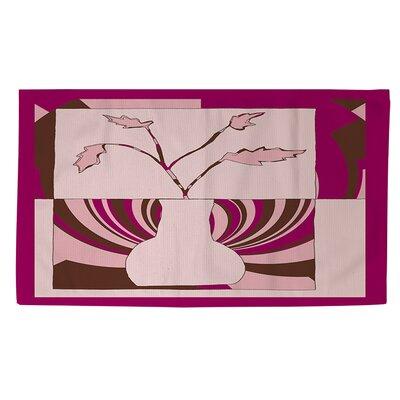 Minimalist Flowers 1 Pink Area Rug Rug size: 4 x 6