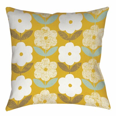 Jar of Sunshine Vintage Printed Throw Pillow Size: 16 H x 16 W x 4 D