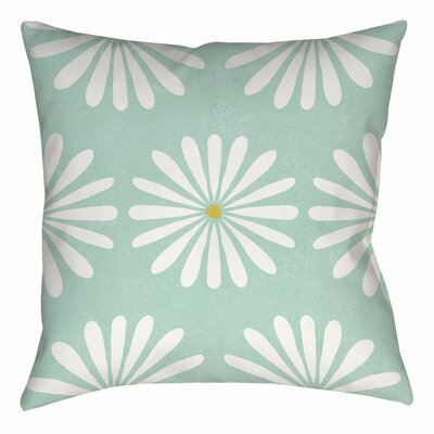 Jar of Sunshine Vintage Daisy Printed Throw Pillow Size: 16 H x 16 W x 4 D