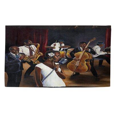 Jazz Affair Dark Brown Area Rug Rug size: 4 x 6