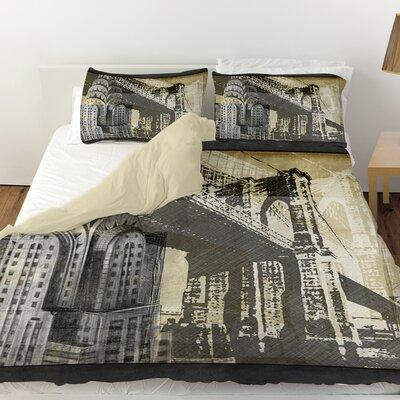 Metropolitan Collage 1 Duvet Cover Size: King