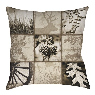 Mountain Retreat I Indoor/Outdoor Throw Pillow Size: 16