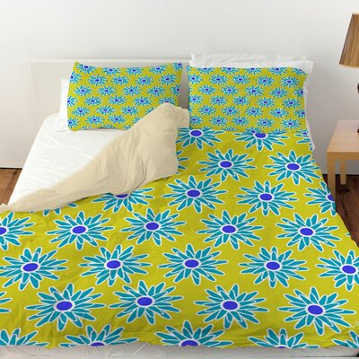 La Roque Summer Starburst Duvet Cover Size: Queen