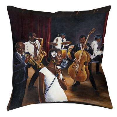 Jazz Affair Printed Throw Pillow Size: 16 H x 16 W x 4 D