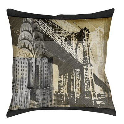 Metropolitan Collage 1 Indoor/Outdoor Throw Pillow Size: 16 H x 16 W x 4 D