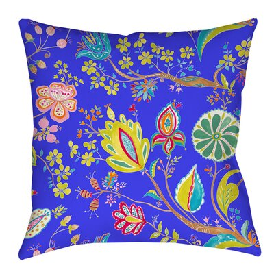 La Roque Summer Floral Indoor/Outdoor Throw Pillow Size: 16 H x 16 W x 4 D