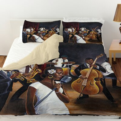 Jazz Affair Duvet Cover Size: King