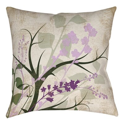 Lois Printed Throw Pillow Size: 16 H x 16 W x 4 D