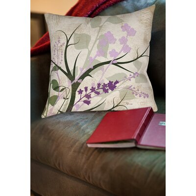 Lois Printed Throw Pillow Size: 14 H x 14 W x 3 D