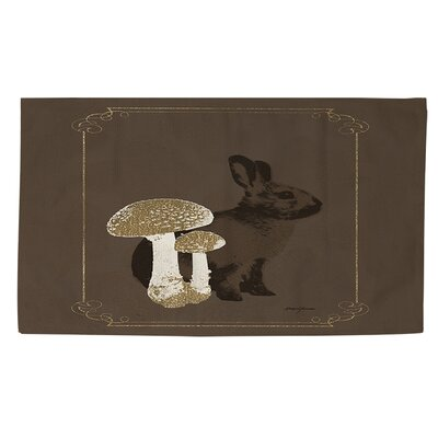 Luxury Lodge Rabbit Brown Area Rug Rug size: 2 x 3