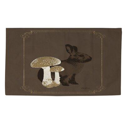 Luxury Lodge Rabbit Brown Area Rug Rug size: 4 x 6