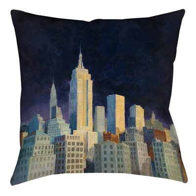 Midnight in Midtown Printed Throw Pillow Size: 14 H x 14 W x 3 D