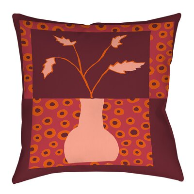 Minimalist Flowers 2 Indoor/Outdoor Throw Pillow Size: 20 H x 20 W x 5 D