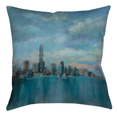 Manhattan Tower of Hope Printed Throw Pillow Size: 14 H x 14 W x 3 D